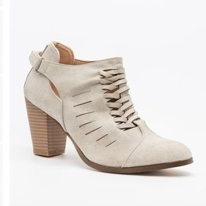HP Stone woven ankle bootie BEST IN SHOES